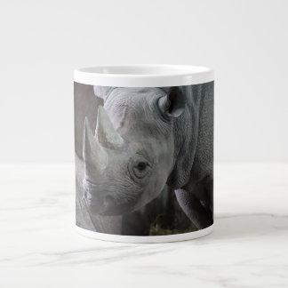 Black Rhinoceros Photo 20 Oz Large Ceramic Coffee Mug