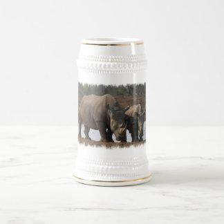 Black Rhinos Beer Stein