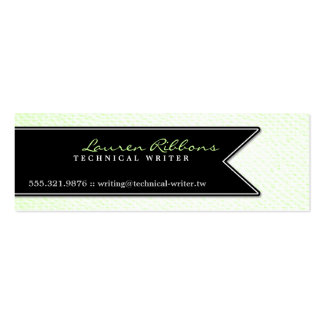 Black Ribbon and Textured Look Mini Business Card