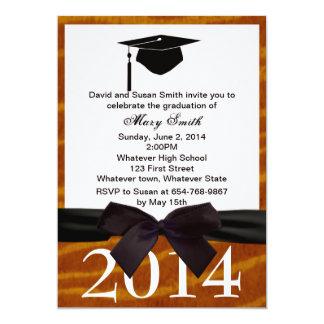 Black Ribbon And Tiger Graduation Invitation