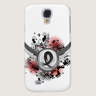 Black Ribbon And Wings Melanoma Galaxy S4 Case