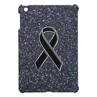 Black Ribbon Awareness Accent Decor iPad Mini Cases