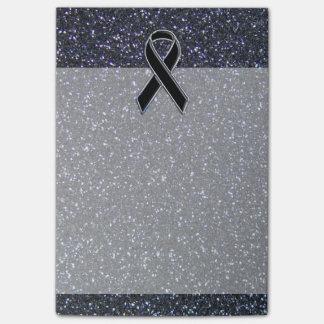 Black Ribbon Awareness Accent Decor Post-it® Notes