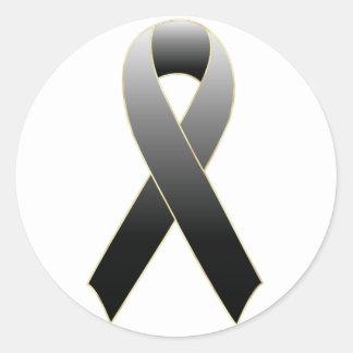 Black Ribbon Awareness Sticker