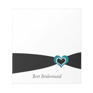 Black Ribbon Best Bridesmaid Notepad