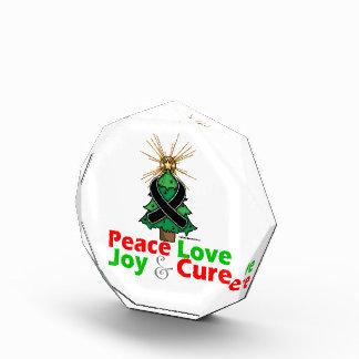 Black Ribbon Christmas Peace Love, Joy & Cure Acrylic Award