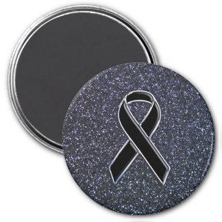 Black Ribbon Decor Magnet