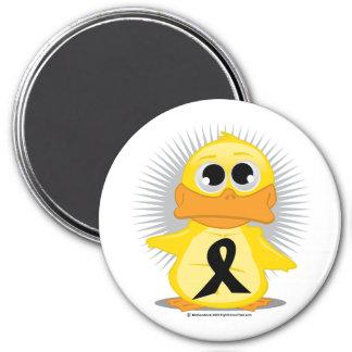 Black Ribbon Duck Fridge Magnet