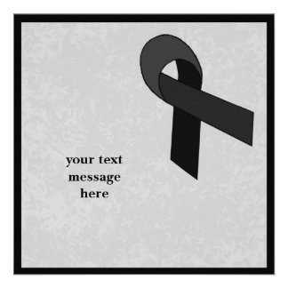 black ribbon event personalized announcement