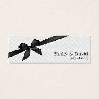 Black Ribbon Ivory Wedding Website Insert Card