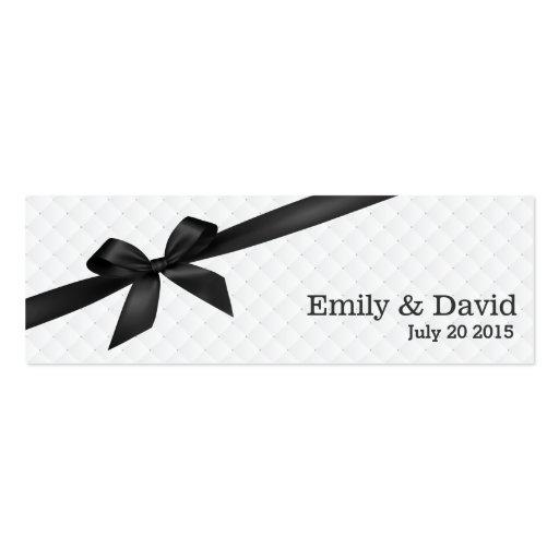 Black Ribbon Ivory Wedding Website Insert Card Business Card