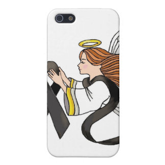 """Black Ribbon"" Melanoma Awareness Angel Case For iPhone SE/5/5s"