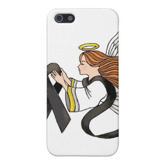 """Black Ribbon"" Melanoma Awareness Angel Cover For iPhone SE/5/5s"