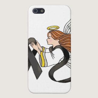 """Black Ribbon"" Melanoma Awareness Angel Cover For iPhone SE/5/5s"