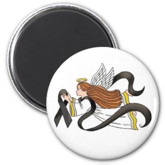 """Black Ribbon"" Melanoma Awareness Angel Magnet"