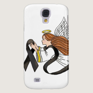 """Black Ribbon"" Melanoma Awareness Angel Samsung S4 Case"