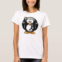Black Ribbon Penguin T-Shirt