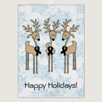 Black Ribbon Reindeer Card