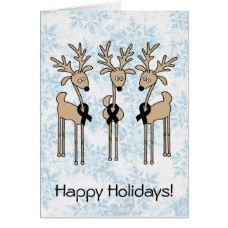 Black Ribbon Reindeer Card