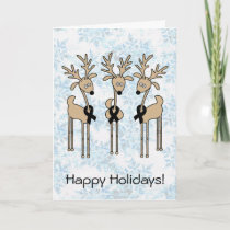 Black Ribbon Reindeer Holiday Card