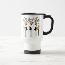 Black Ribbon Reindeer Travel Mug