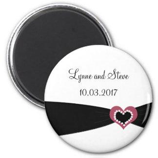 Black Ribbon Save the Date Fridge Magnets