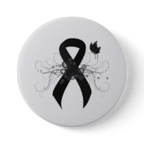 Black Ribbon with Butterfly Button