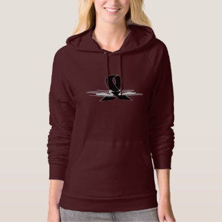 Black Ribbon with Swans Hoodie