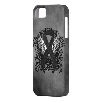 Black Ribbon with Wings iPhone SE/5/5s Case