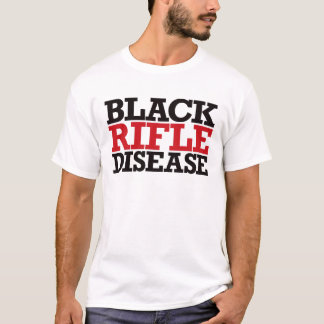 Black Rifle Disease - Red and Black T-Shirt