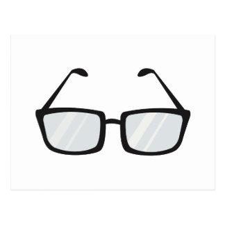 Black Rim Glasses Postcard