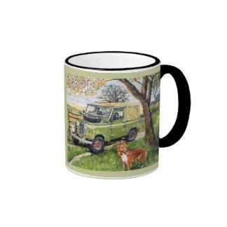 """Black Ringer Mug """"FARM"""" Design"""