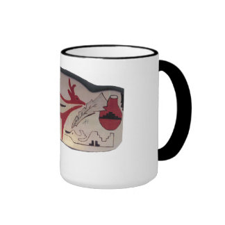 Black Ringer Mug with Pueblo Design