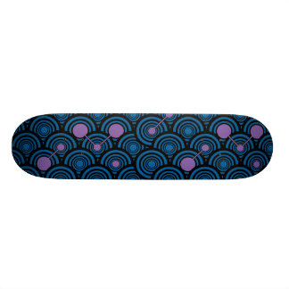 Black Rings (Blue/Purple) Skateboard Deck