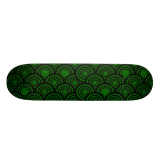 Black Rings (Green) Skateboard Deck
