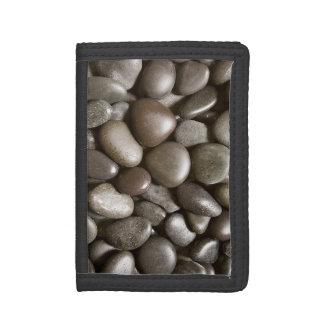 Black River Rock Nature Zen Pebble Tri-fold Wallet