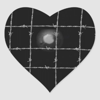 Black Rivets and Barbed Wire Heart Sticker