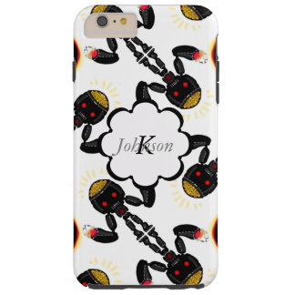 Black Robot with Glowing Brain Pattern Tough iPhone 6 Plus Case