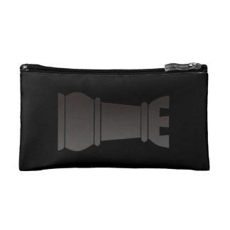 Black rock chess piece cosmetic bag
