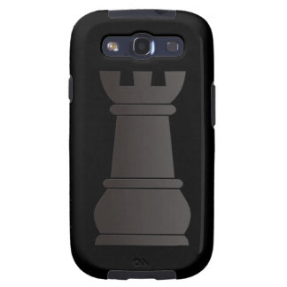 Black rock chess piece galaxy SIII covers