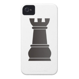 Black rock chess piece iPhone 4 cases