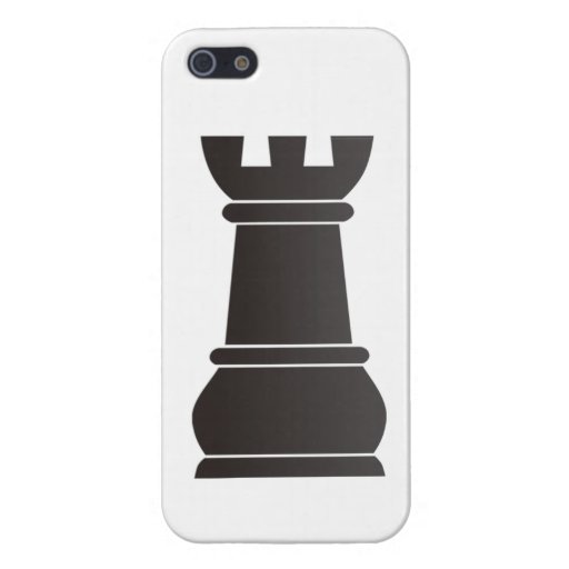 Black rock chess piece iPhone 5 covers