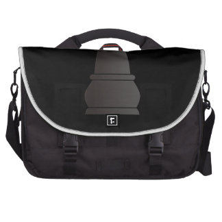 Black rock chess piece laptop commuter bag