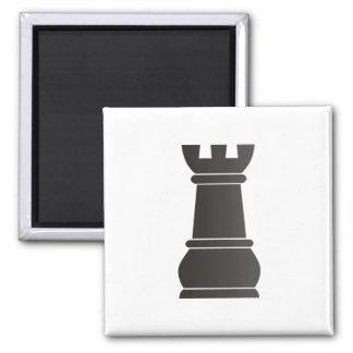 Black rock chess piece fridge magnet