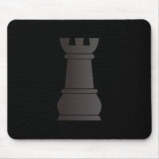 Black rock chess piece mouse pad