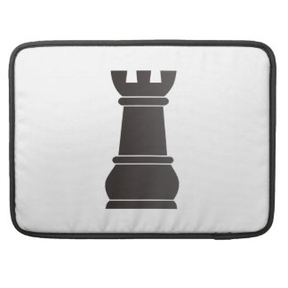 Black rock chess piece sleeve for MacBooks
