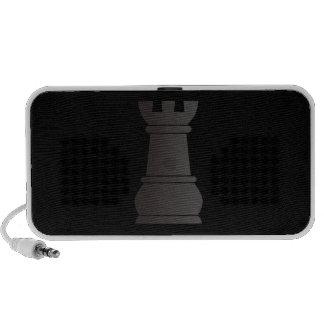 Black rock chess piece mini speakers