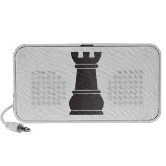 Black rock chess piece travelling speakers