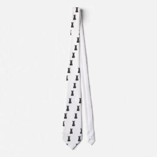 Black rock chess piece tie