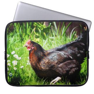 Black rock chicken laptop sleeve